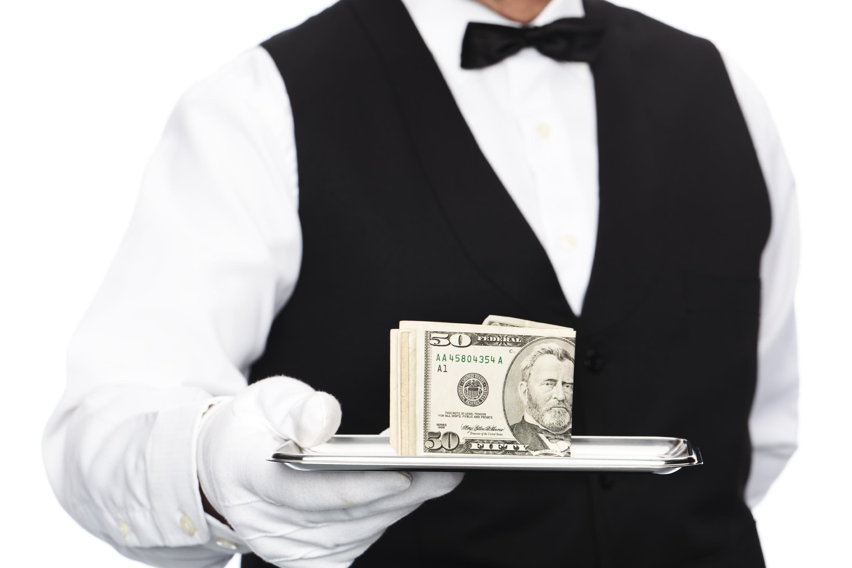 serving money