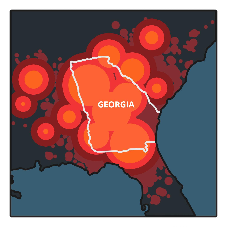 Zombie Map Georgia
