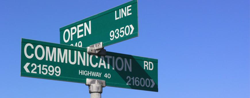 Open Communication Sign