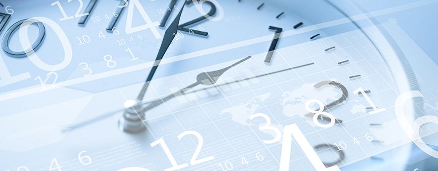 blue clock calendar overlay