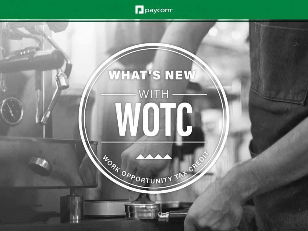 WOTC tax credits webinar