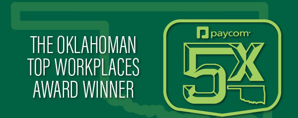 Paycom Named a Top Workplace in Oklahoma for Fifth Consecutive Year