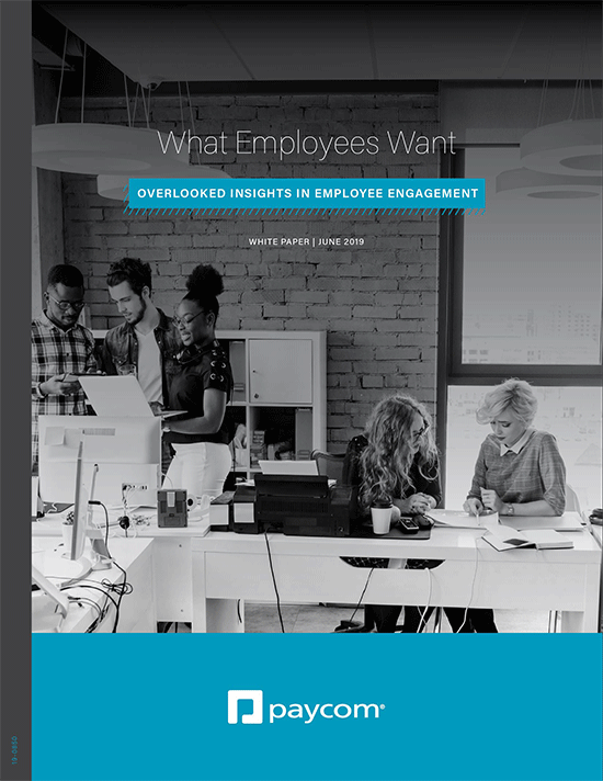 What Employees Want:  Overlooked Insights in Employee Engagement