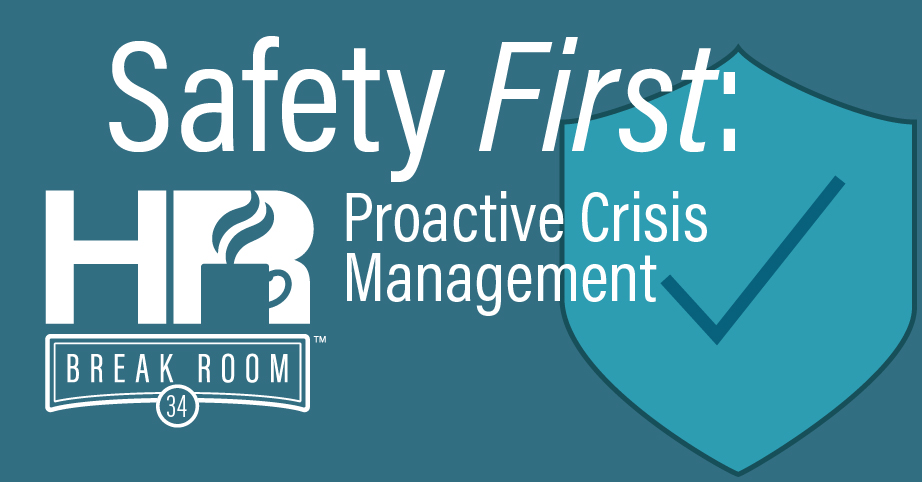 Proactive crisis management HR Breakroom podcast episode banner
