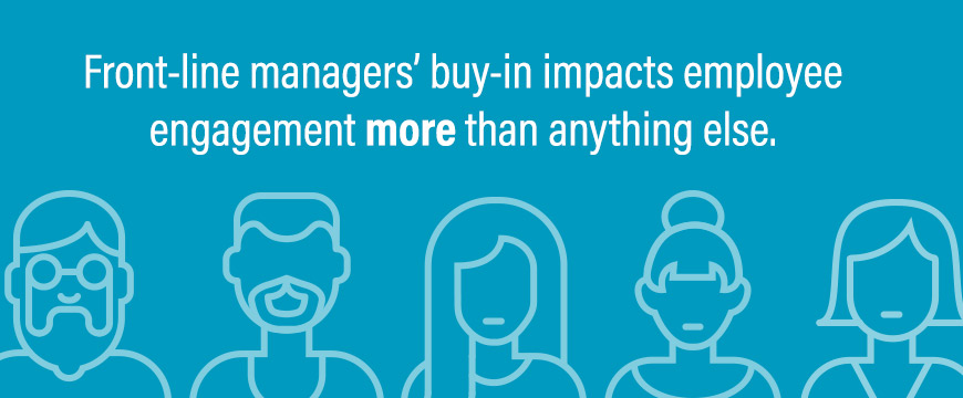 Graphic: Front-line managers' buy-in impacts employee engagement more than anything else