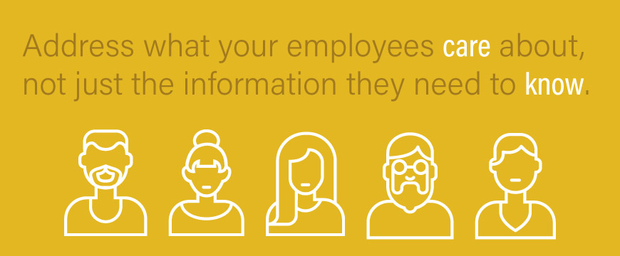 Graphic: Address what your employees care about, not just the information they need to know