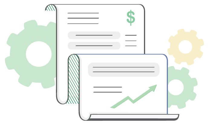 finance document graphic